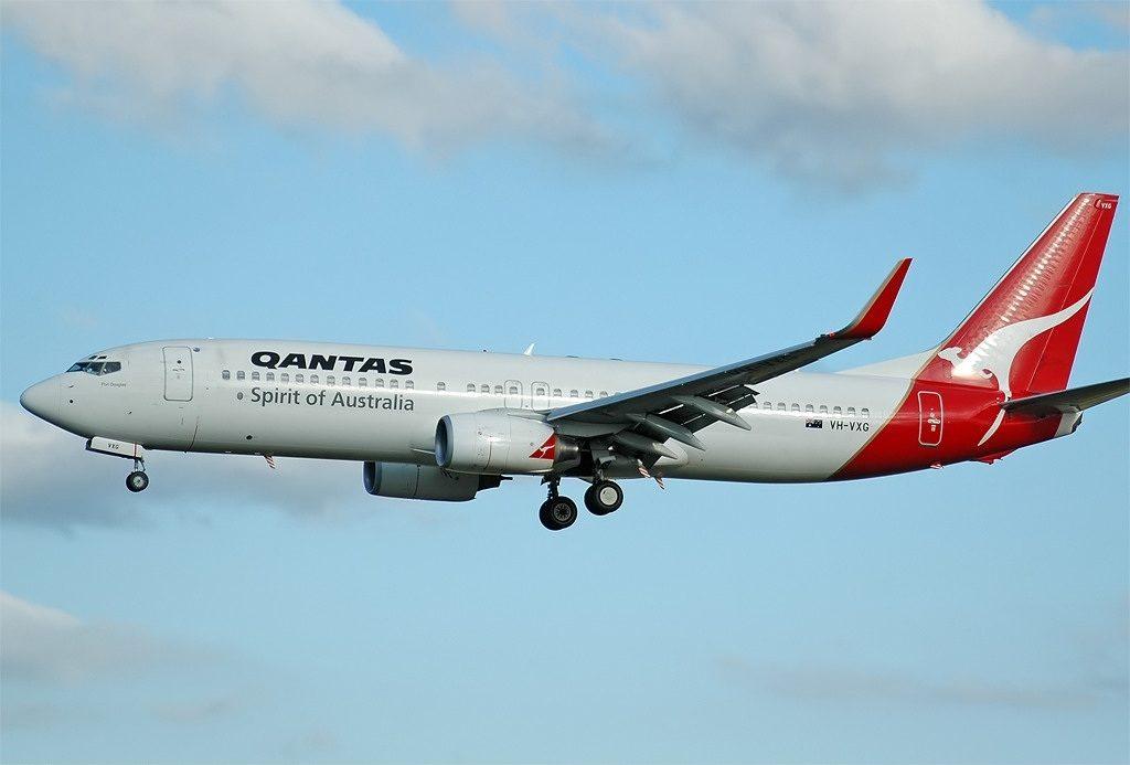 Qantas VH VXG Boeing 737 838WL Port Douglas at Canberra Airport