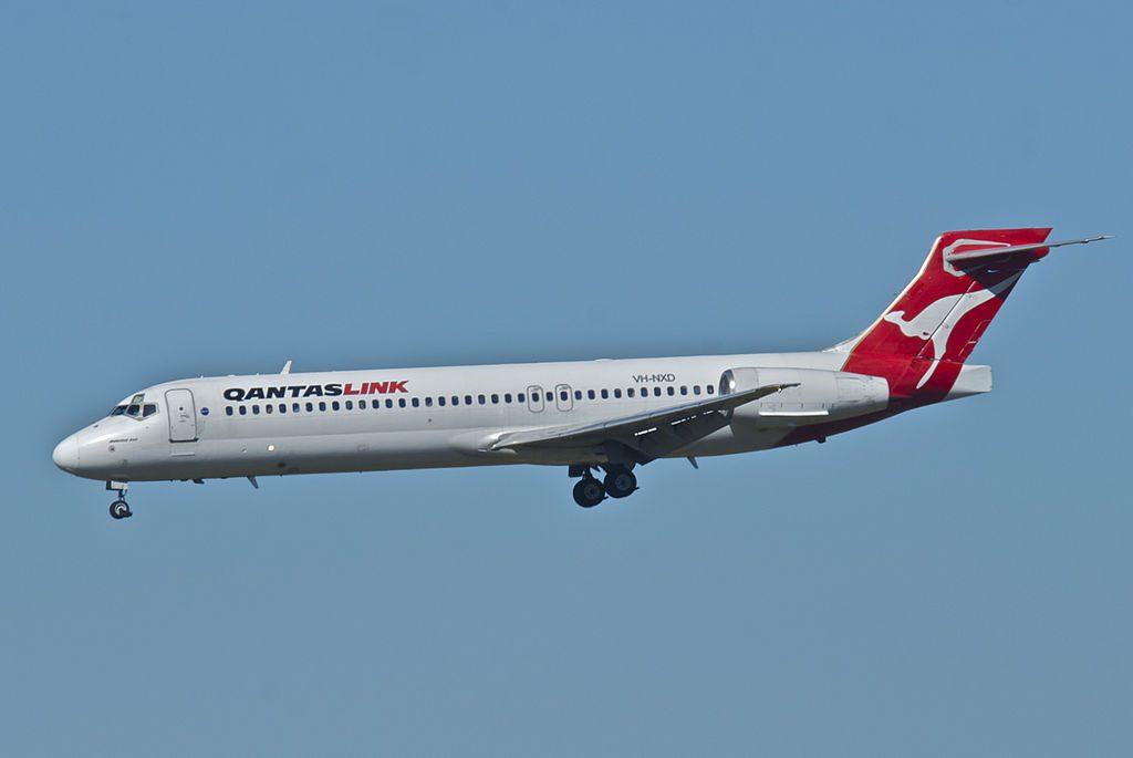 QantasLink Boeing 717 23S VH NXD at Brisbane Airport