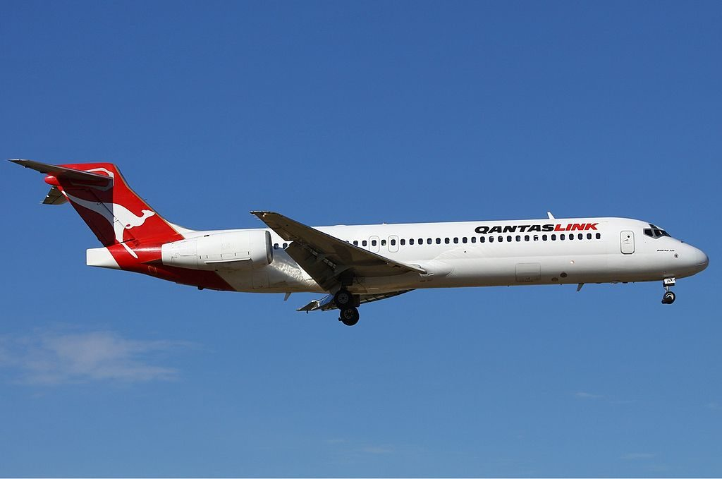 QantasLink National Jet Systems VH NXH Boeing 717 2K9 at Perth Airport