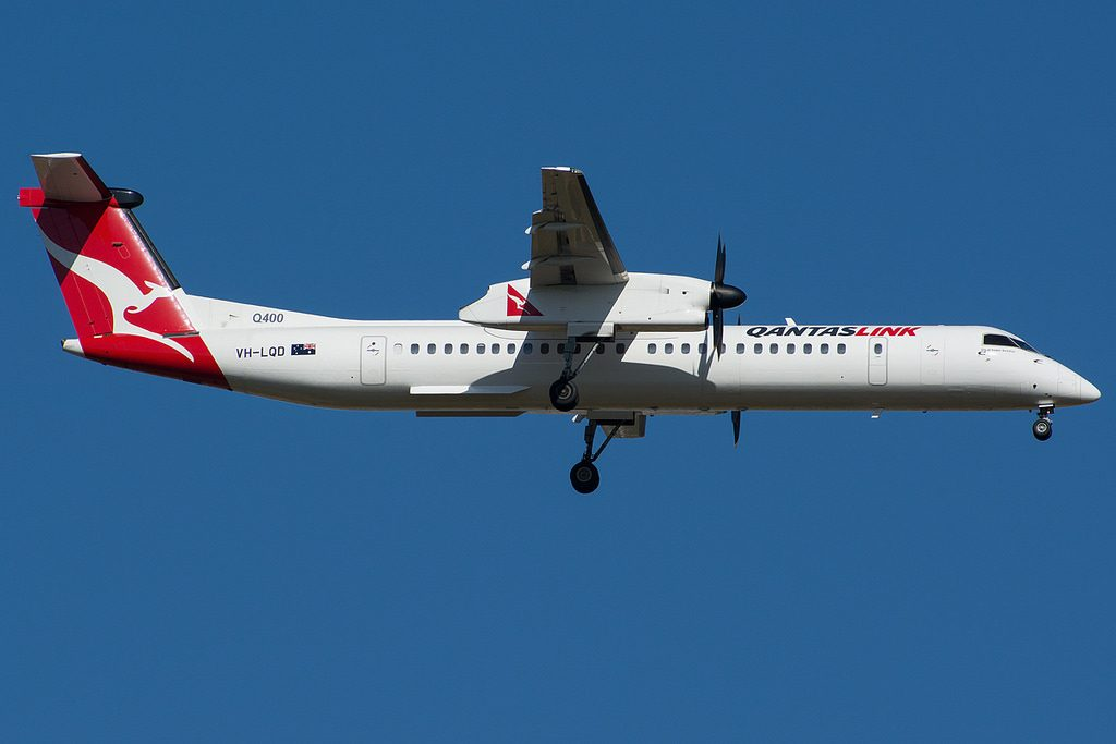 QantasLink Sunstate Airlines Bombardier Dash 8 Q400 VH LQD City of Greater Geraldton
