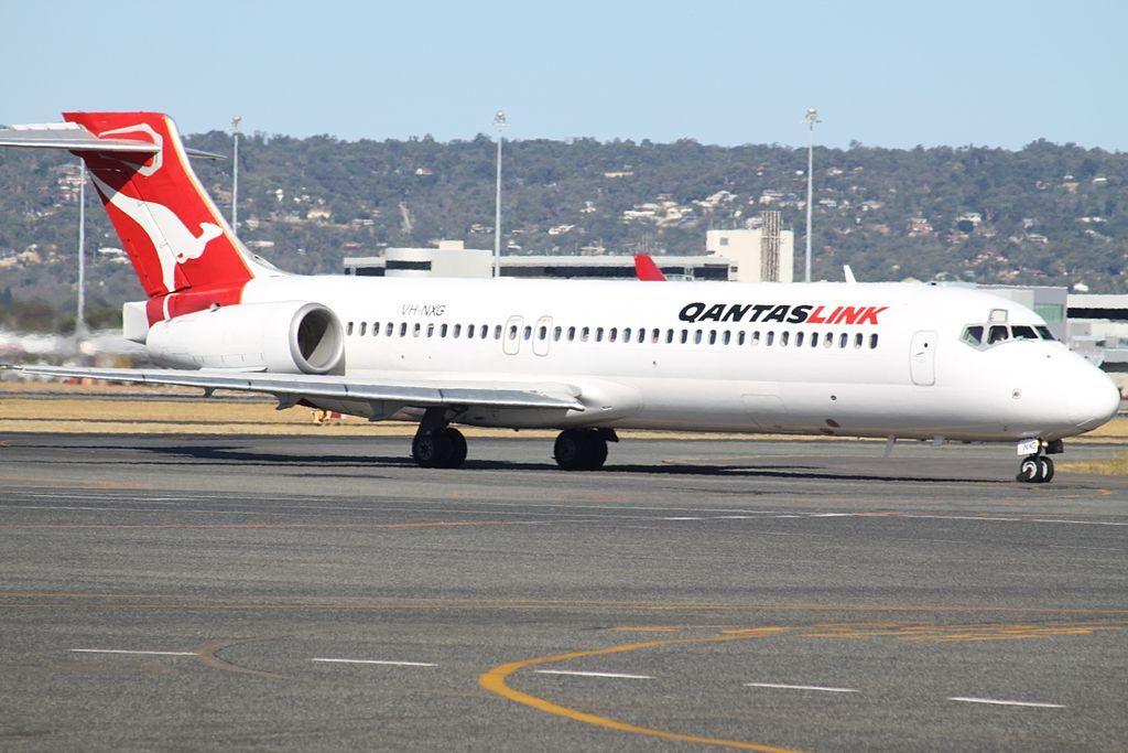 QantasLink VH NXG Boeing 717 2K9 at Perth Airport