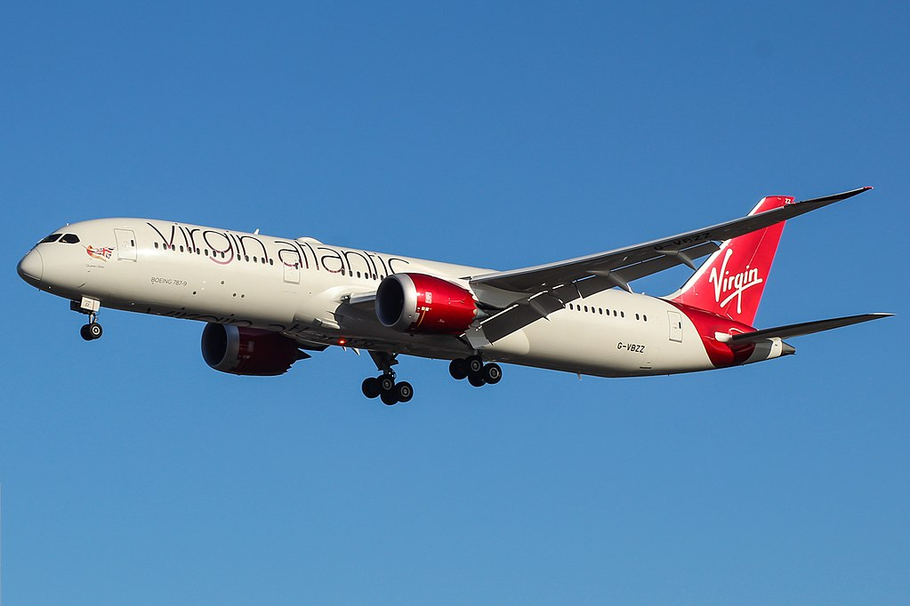 Queen Bee G VBZZ Boeing 787 9 Dreamliner of Virgin Atlantic at London Heathrow Airport