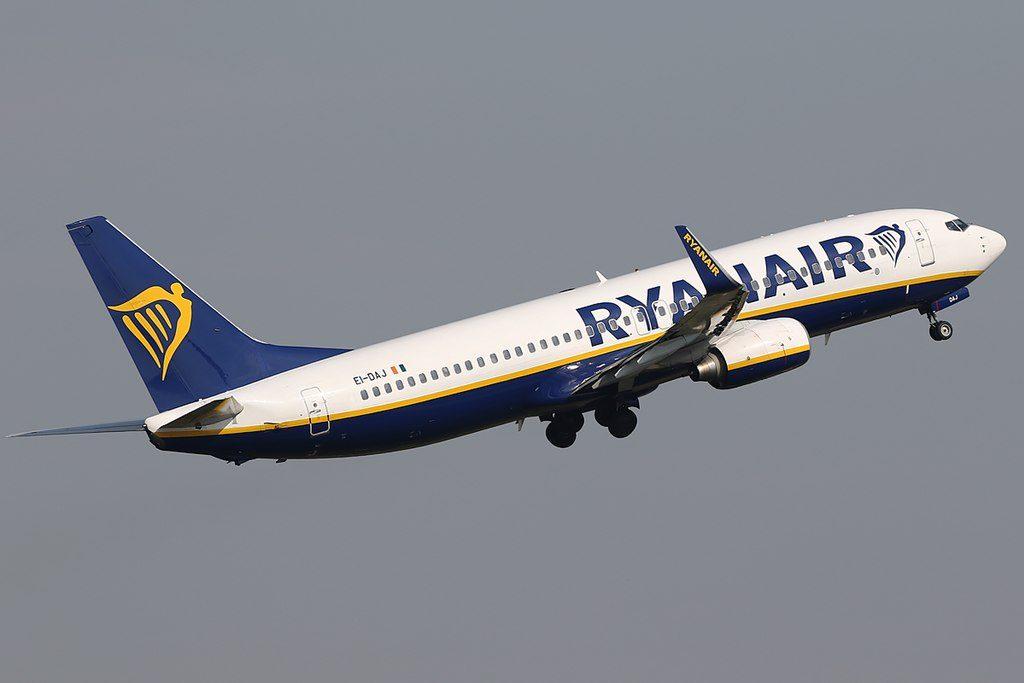 Ryanair Boeing 737 8ASWL EI DAJ at Eindhoven Airport