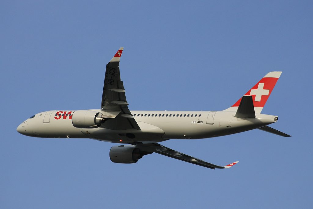 SWISS Airbus A220 300 HB JCS at London Heathrow Airport