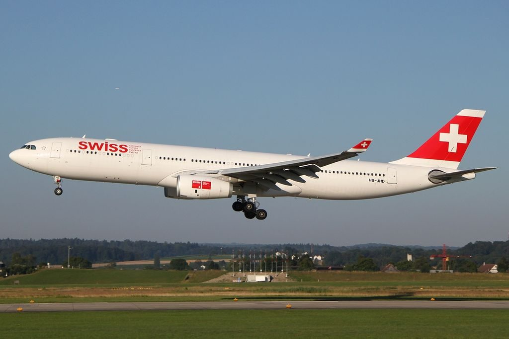 SWISS Airbus A330 343E HB JHD St. Gallen at Zurich International Airport