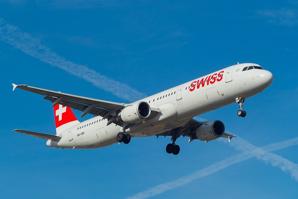 SWISS HB IOM Airbus A321 212 Biel Bienne at Geneva International Airport
