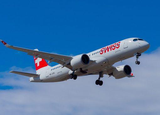SWISS HB JCM Bombardier CS300 at Geneva International Airport