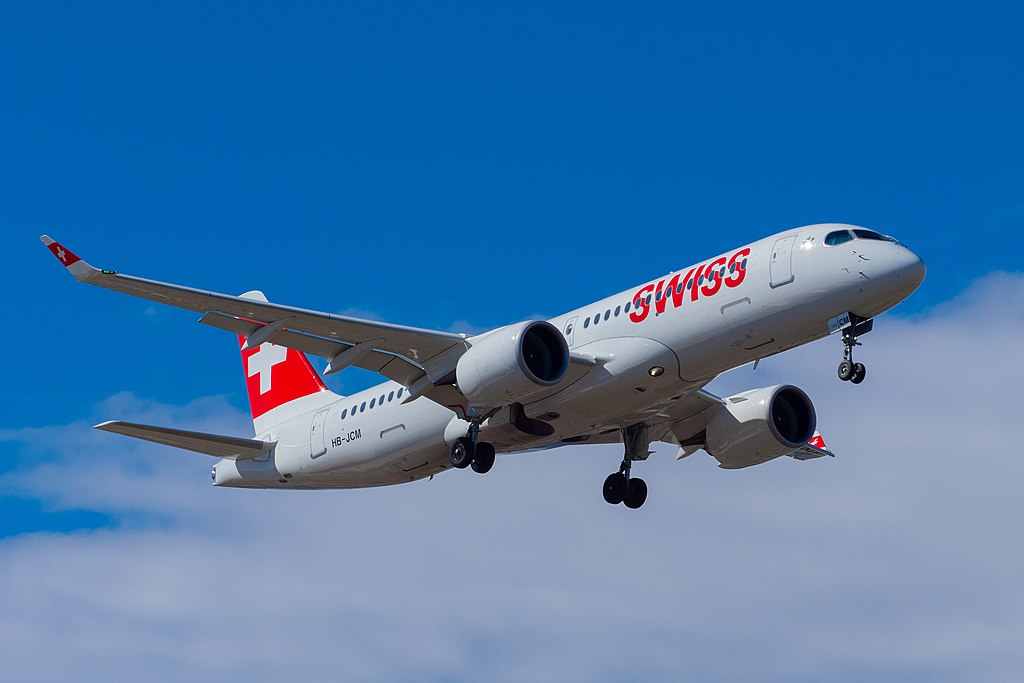 SWISS HB JCM Bombardier CS300 at Geneva International Airport