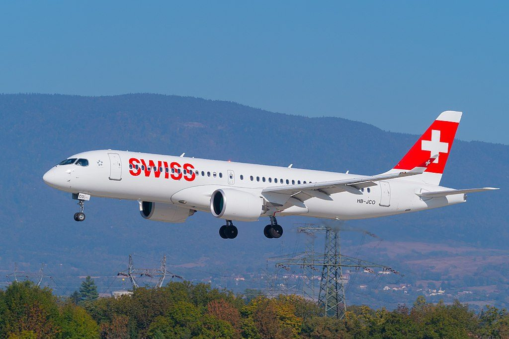 SWISS HB JCO Bombardier BD 500 1A11 CS300 at Geneva International Airport