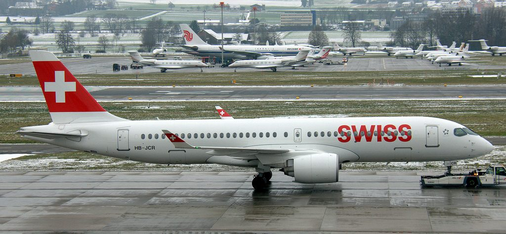 SWISS HB JCR Airbus A220 300 at Zurich International Airport