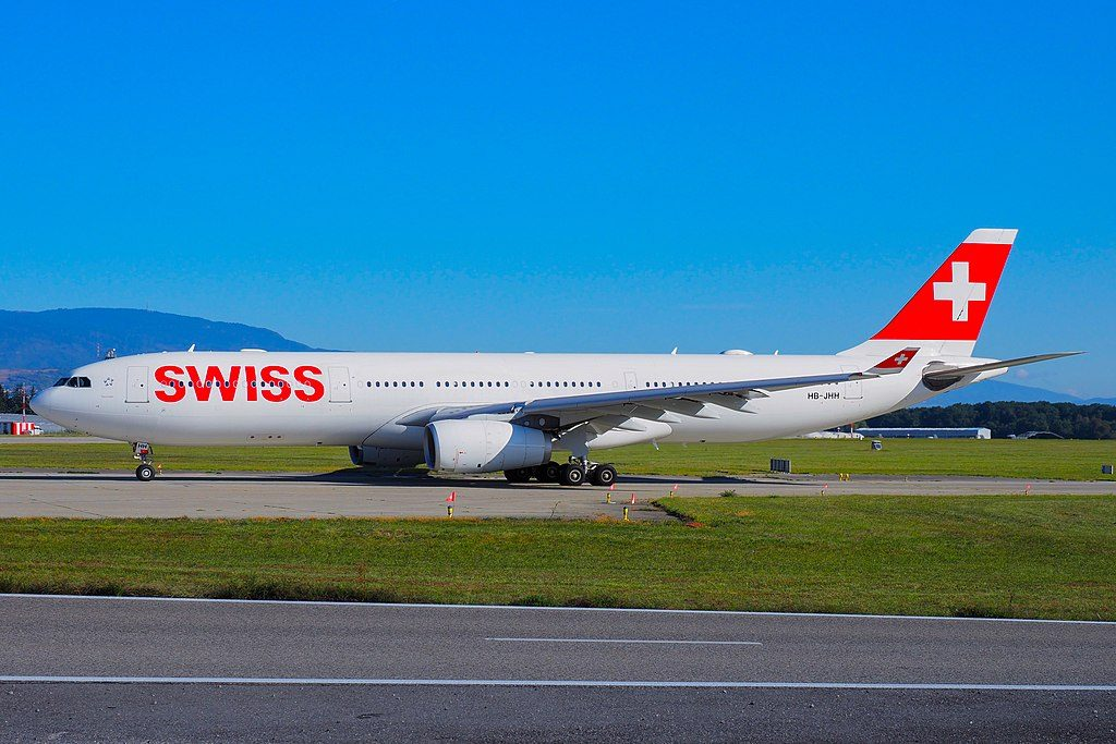 SWISS HB JHH Airbus A330 343 Neuchatel at Geneva International Airport