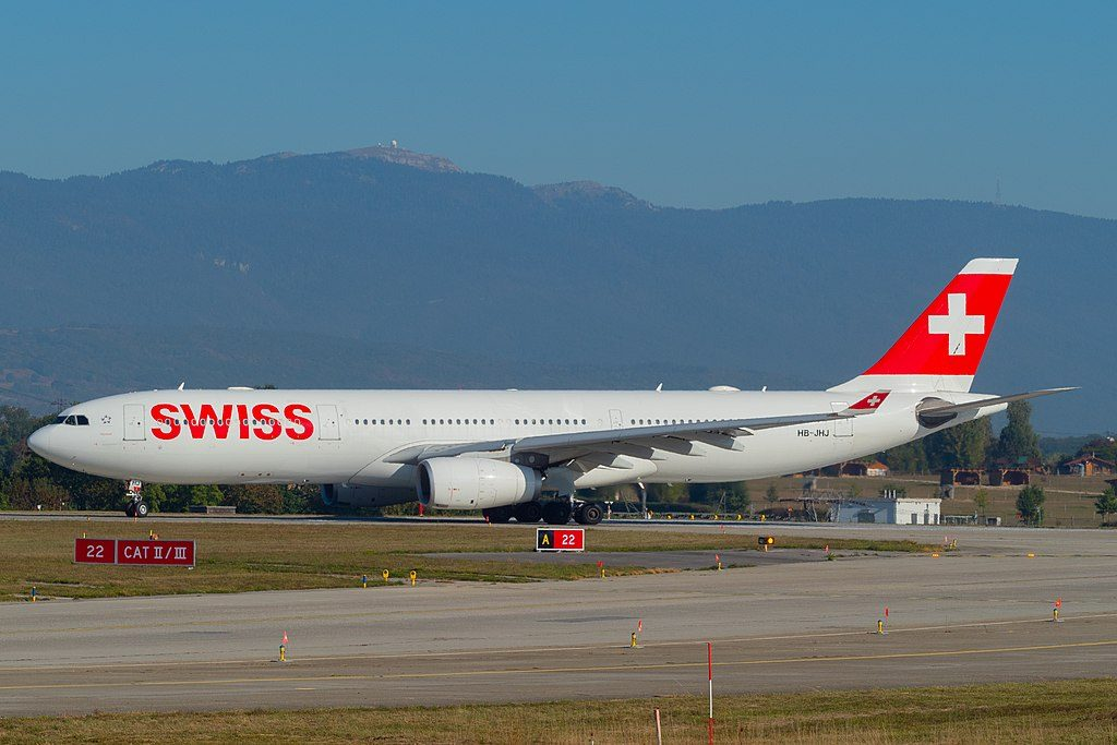 SWISS HB JHJ Airbus A330 343 Appenzell at Geneva International Airport