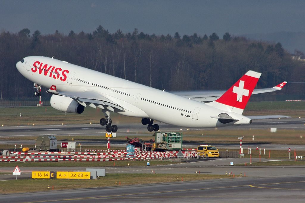 SWISS HB JHK Airbus A330 343X Herisau at Zurich International Airport