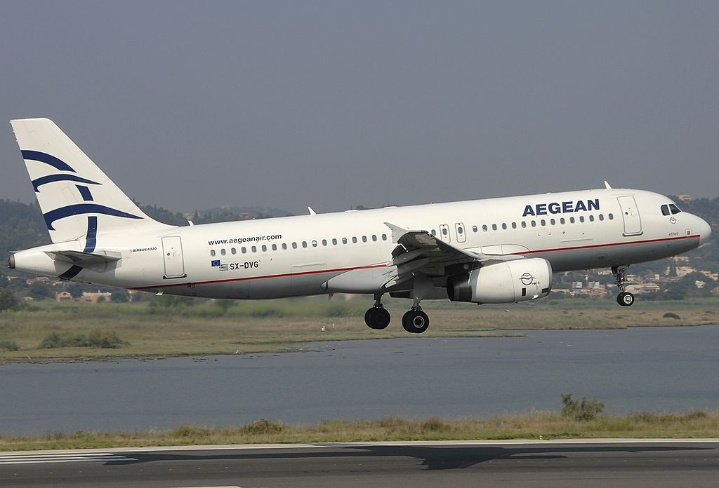 SX DVG Airbus A320 232 Aegean Airlines Ethos at Corfu International Airport
