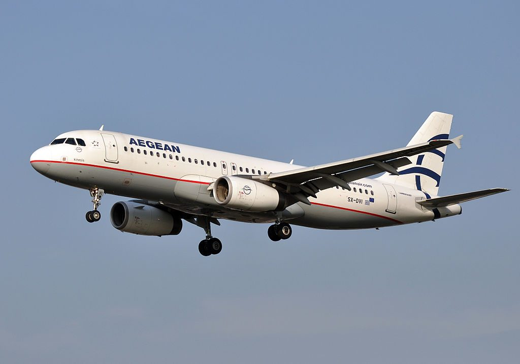 SX DVI Airbus A320 232 Kinesis of Aegean Airlines at London Heathrow Airport