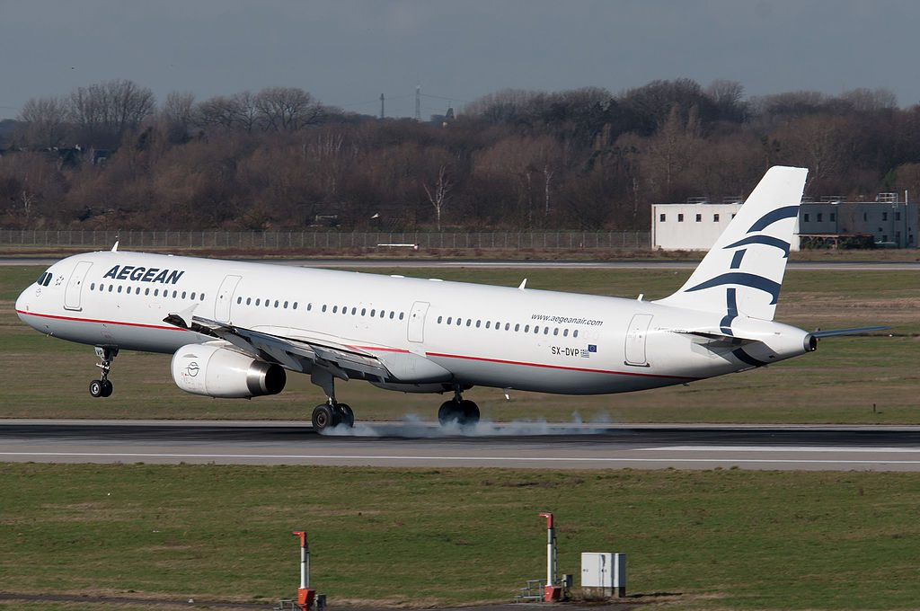 SX DVP Airbus A321 231 of Aegean Airlines at Düsseldorf Airport