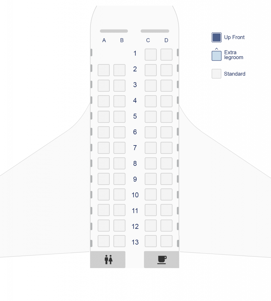 Seat Map and Seating Chart ATR 42 600 Olympic Air Aegean Airlines