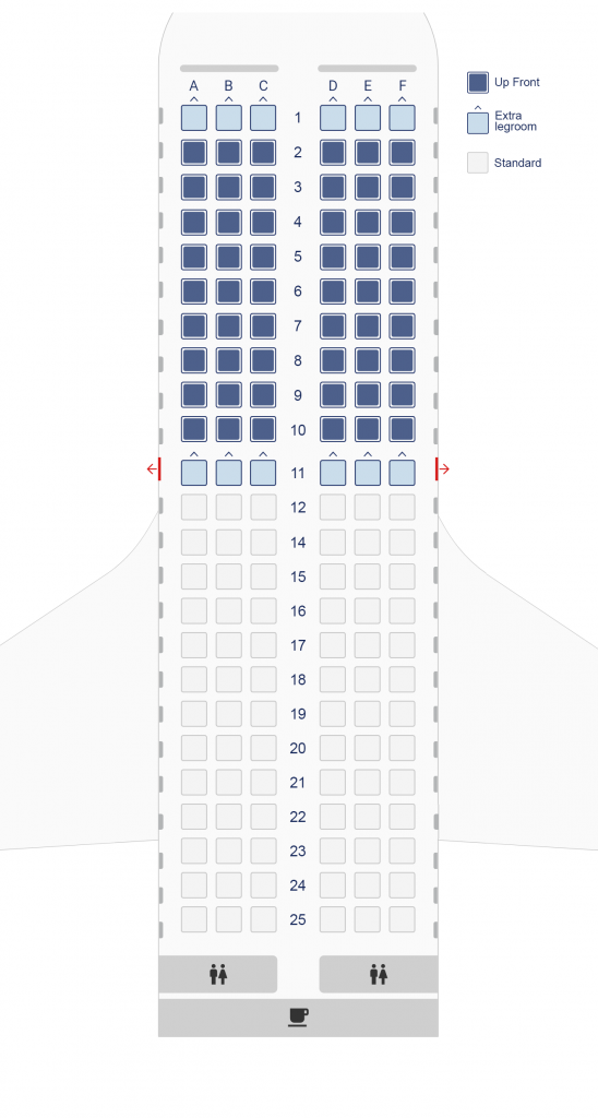 Seat Map and Seating Chart Airbus A319 100 Aegean Airlines