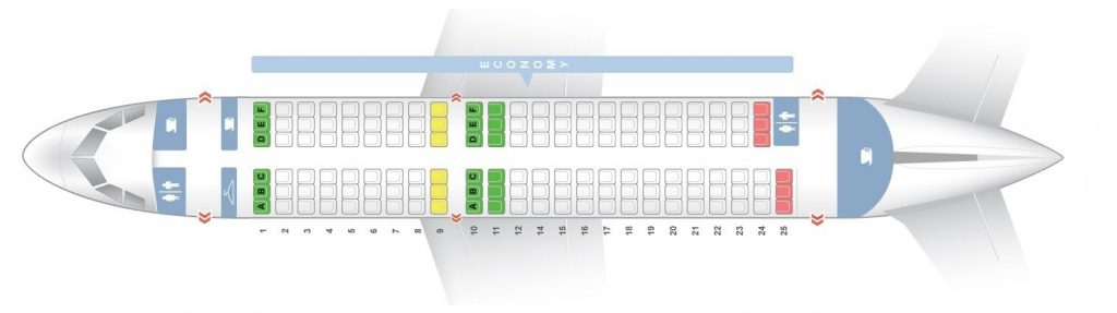 Seat Map and Seating Chart Airbus A319 100 Brussels Airlines