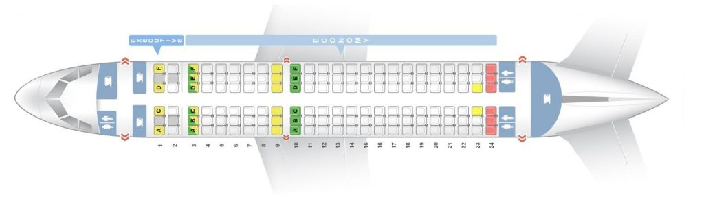 Seat Map and Seating Chart Airbus A319 100 V1 TAP Air Portugal