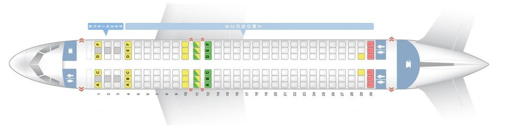Seat Map and Seating Chart Airbus A320 200 Aegean Airlines