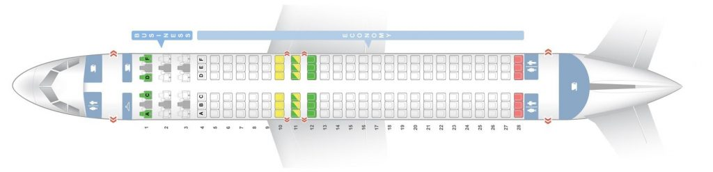 Seat Map and Seating Chart Airbus A320 200 V1 Brussels Airlines