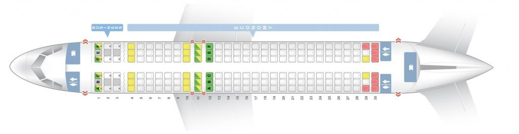 Seat Map and Seating Chart Airbus A320 200 V2 Brussels Airlines
