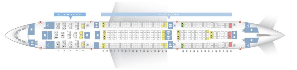 Seat Map and Seating Chart Airbus A330 200 Brussels Airlines