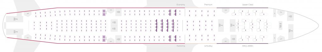 Seat Map and Seating Chart Airbus A330 200 V1 Virgin Atlantic