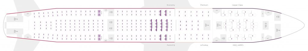 Seat Map and Seating Chart Airbus A330 200 V2 Virgin Atlantic