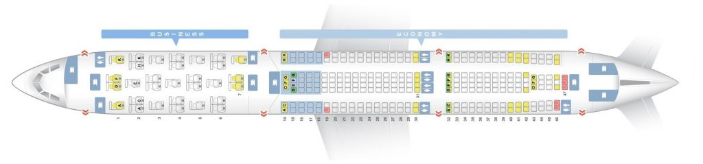 Seat Map and Seating Chart Airbus A330 300 Brussels Airlines