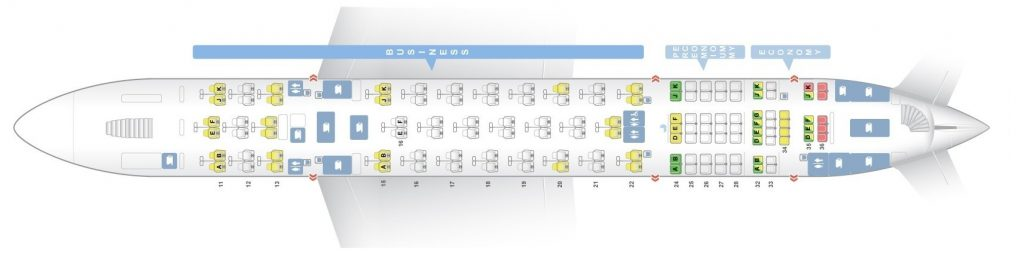 Seat Map and Seating Chart Airbus A380 800 Upper Deck Qantas