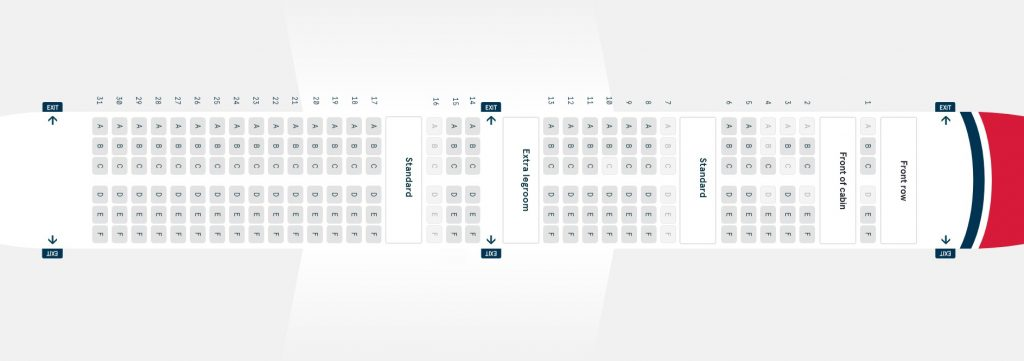 Seat Map and Seating Chart Boeing 737 800 Norwegian