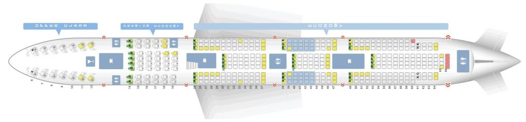 Seat Map and Seating Chart Boeing 747 400 Lower Deck Virgin Atlantic LGW