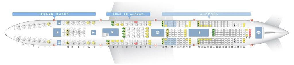 Seat Map and Seating Chart Boeing 747 400 Lower Deck Virgin Atlantic LHR