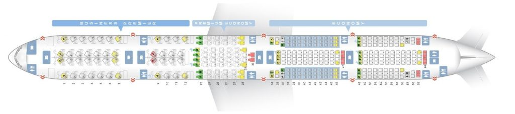 Seat Map and Seating Chart Boeing 777 300ER Air New Zealand
