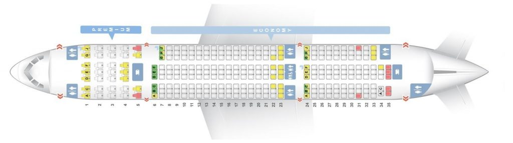 Seat Map and Seating Chart Boeing 787 8 Dreamliner Norwegian