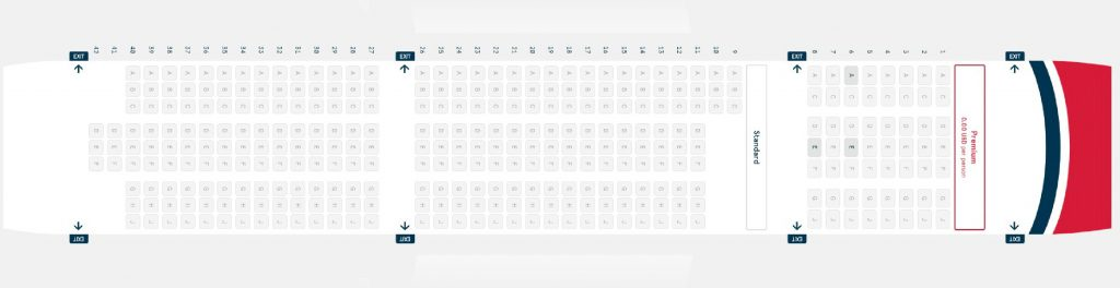 Seat Map and Seating Chart Boeing 787 9 Dreamliner Norwegian Premium 8