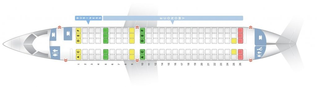 Seat Map and Seating Chart Bombardier CS100 SWISS