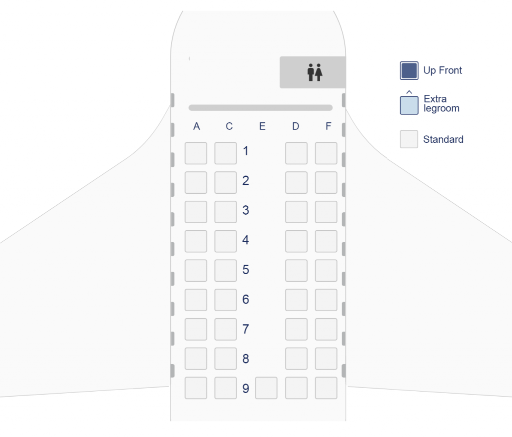 Seat Map and Seating Chart Bombardier Dash 8 100 Olympic Air Aegean Airlines