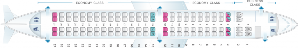 Seat Map and Seating Chart Embraer E 190 TAP Express Portugalia Airlines