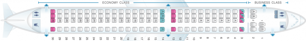Seat Map and Seating Chart Embraer E195 TAP Express Portugalia Airlines