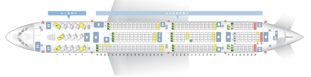 Seat map and Seating Chart Airbus A380 800 Lower Deck Qantas