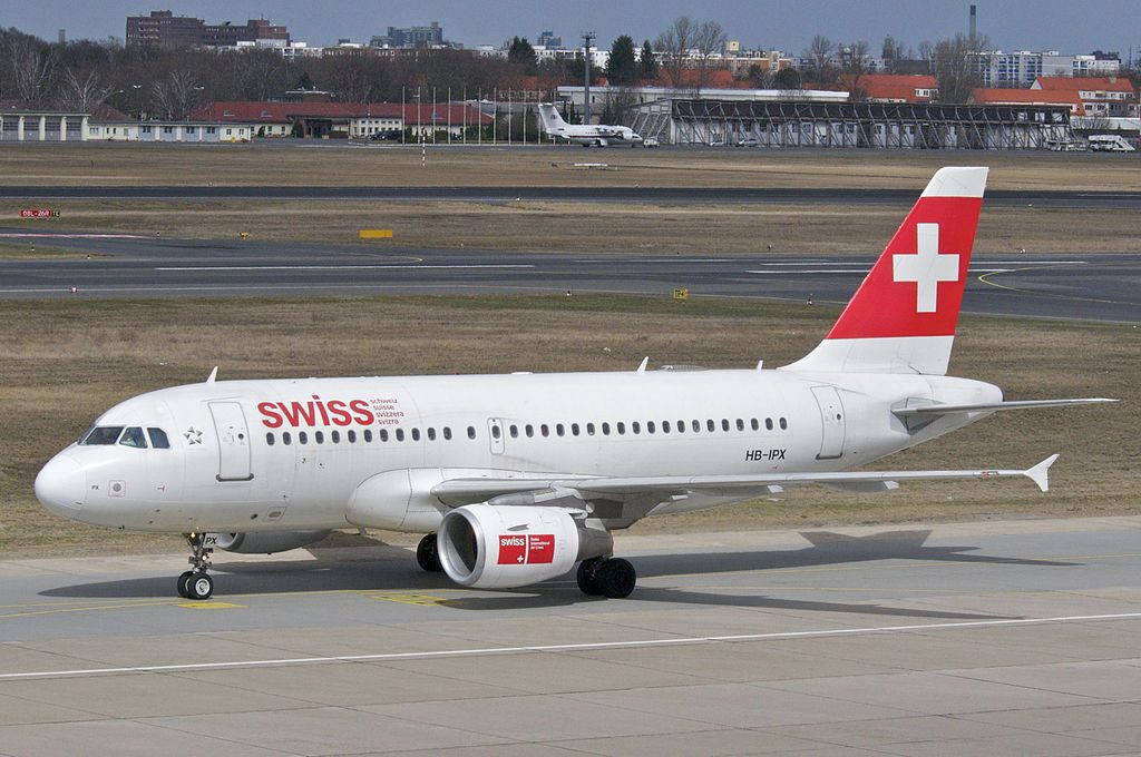 Swiss Airbus A319 112 HB IPX at Berlin Tegel Airport TXL