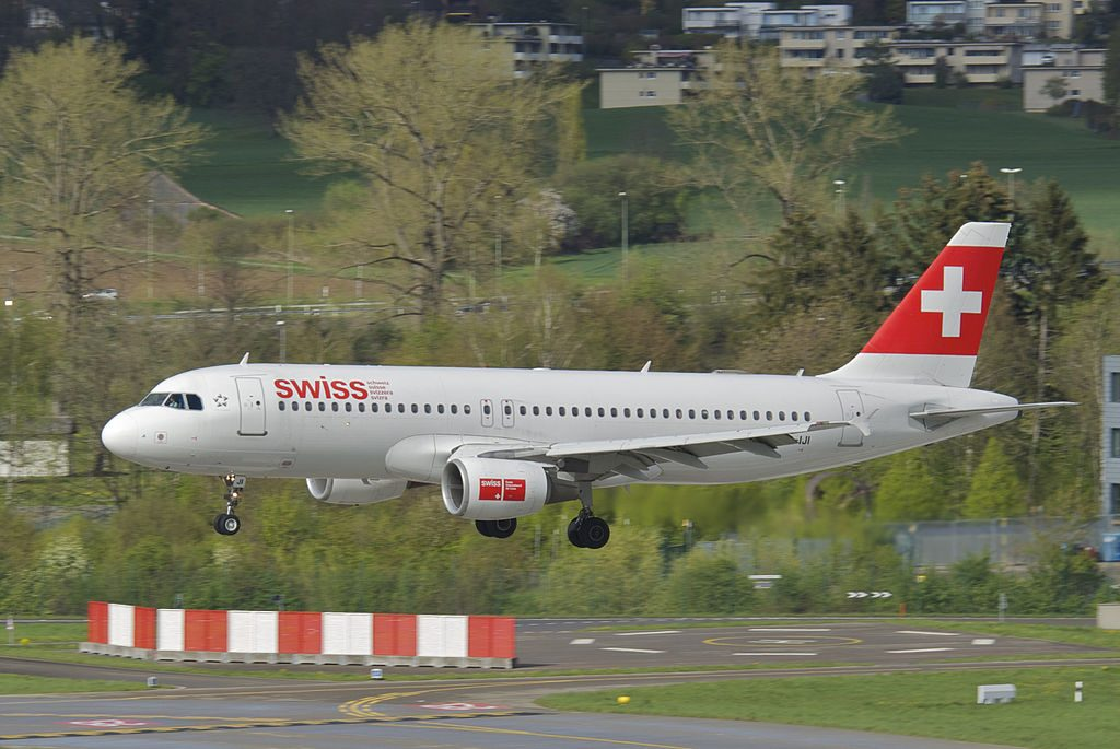 Swiss Airbus A320 214 HB IJI Saint Prex at Zurich Airport ZRH
