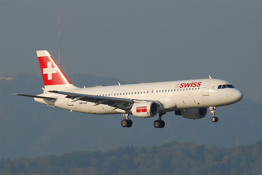 Swiss Airbus A320 214 HB IJJ Wallisellen at Zurich International Airport ZRH