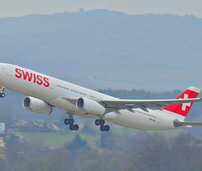 Swiss Airbus A330 300 HB JHL Sarnen at Zurich International Airport ZRH