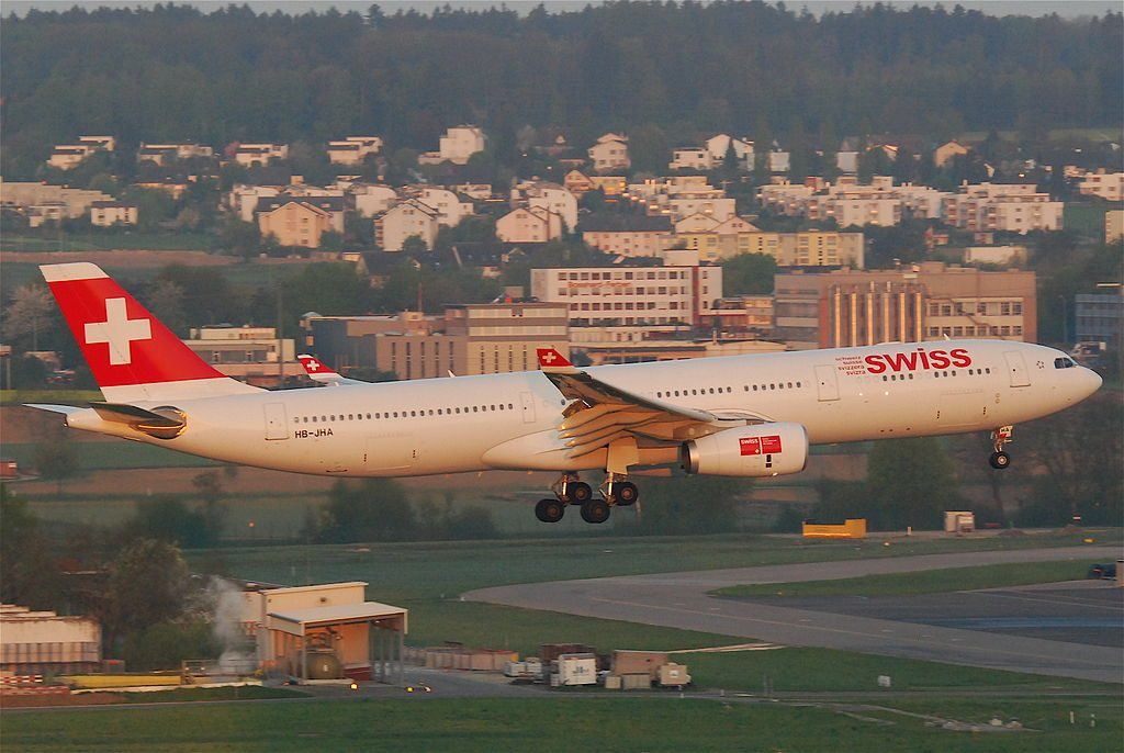 Swiss Airbus A330 343X HB JHA Schwyz at Zurich International Airport ZRH