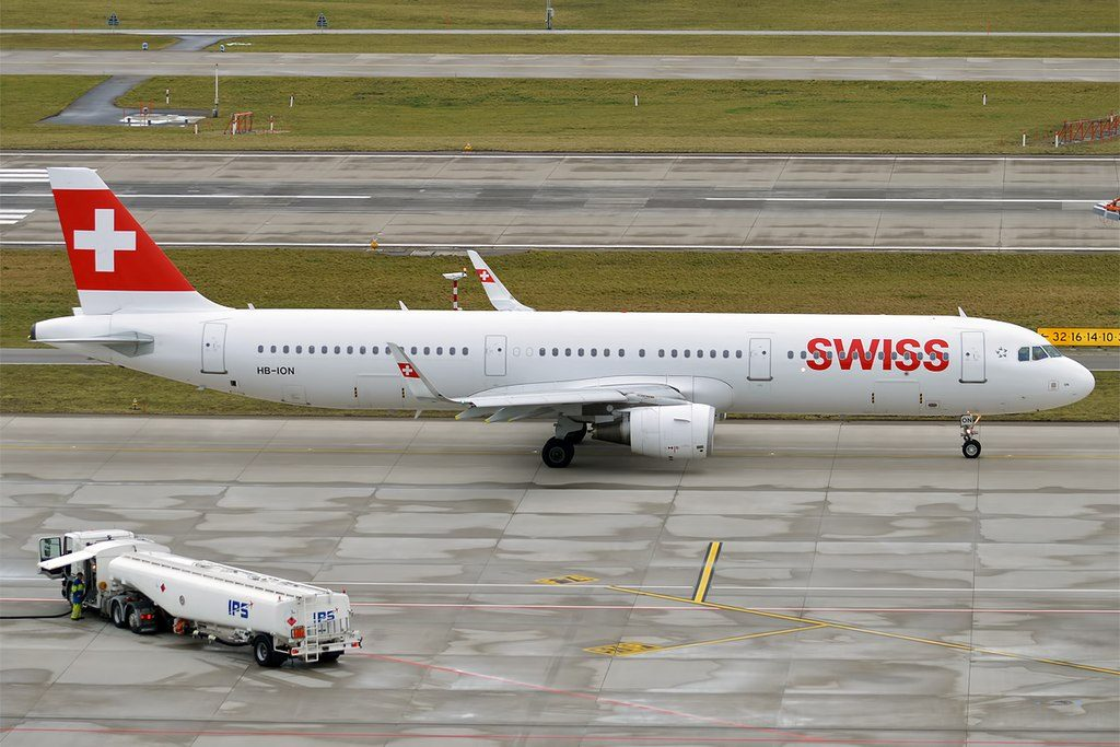 Swiss HB ION Airbus A321 212WL Lugano at Zurich International Airport