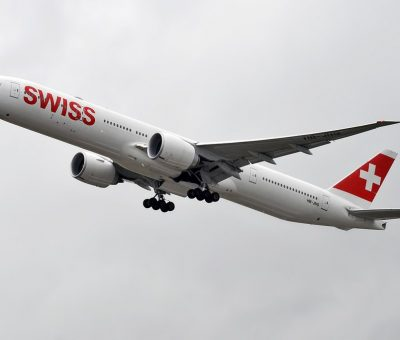Swiss HB JNG Boeing 777 3DE ER at Zurich International Airport